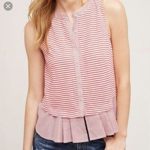 Anthropologie Meadow Rue Red Striped Fenelle Top